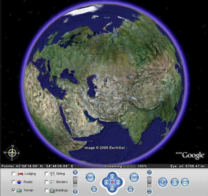 Гугл Планета Земля